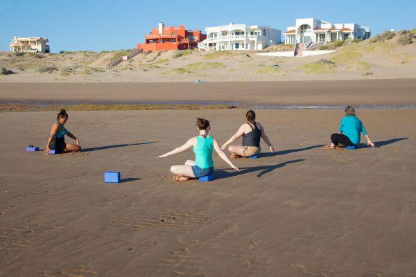 Yoga on the Santo Tomás Beach